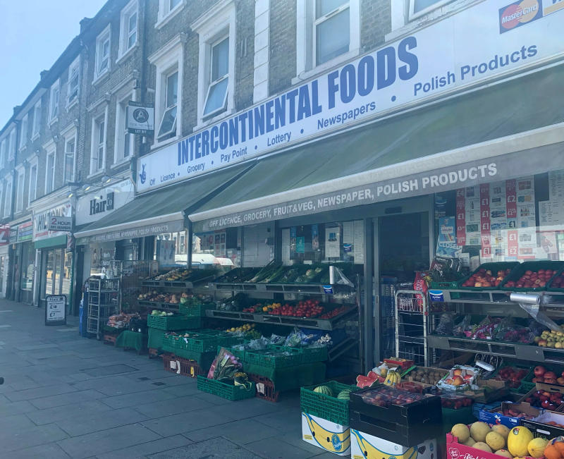 The Intercontinental Foods shop in Shepherd's Bush, where Yusuf Mohamed was stabbed to death (SWNS)