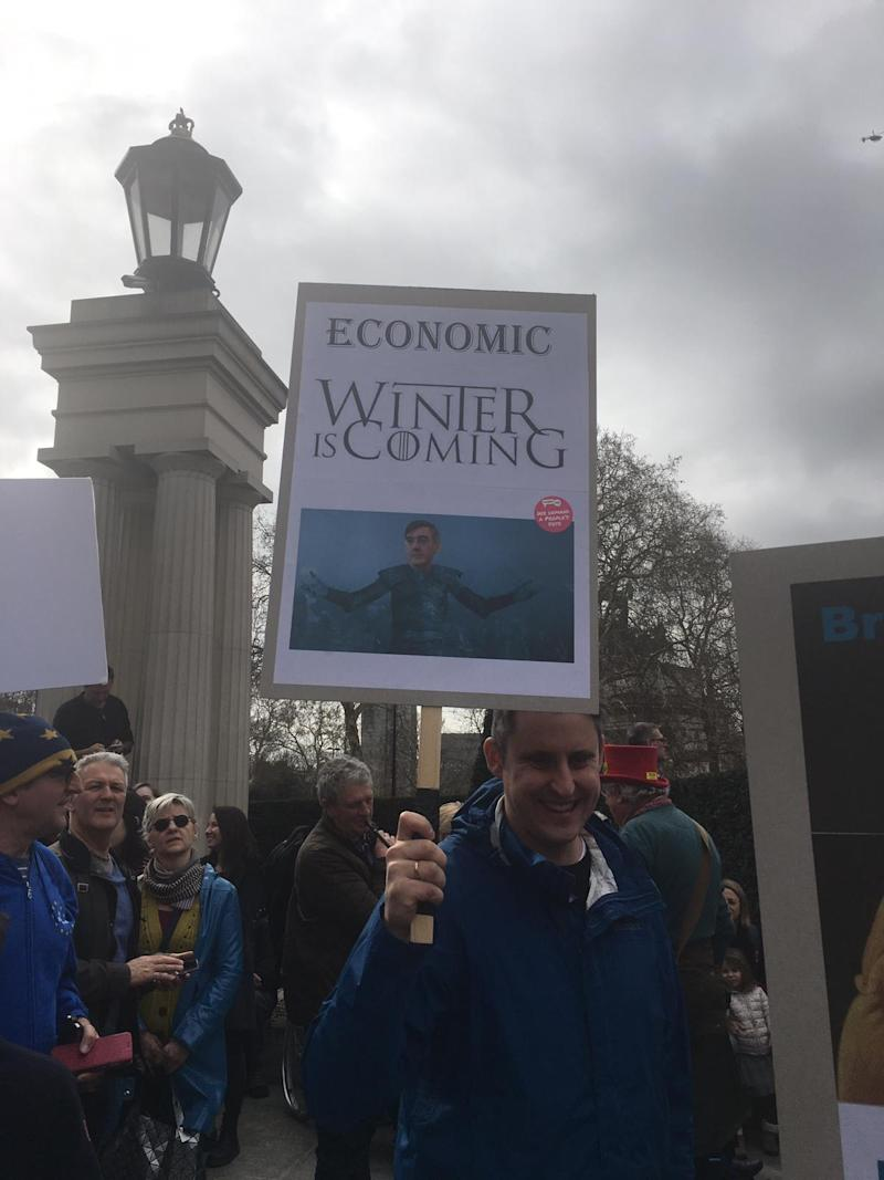 The march saw an estimated one million attend (Katie Walton)