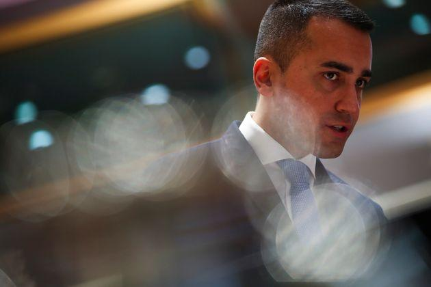 Italian Foreign Minister Luigi Di Maio arrives to an European Foreign Affairs Ministers meeting at the Europa building in Brussels, Monday, Nov. 11, 2019. European Union foreign ministers are discussing ways to keep the Iran nuclear deal intact after the Islamic Republic began enrichment work at its Fordo power plant. (AP Photo/Francisco Seco)