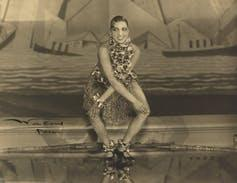 Josephine Baker on stage.