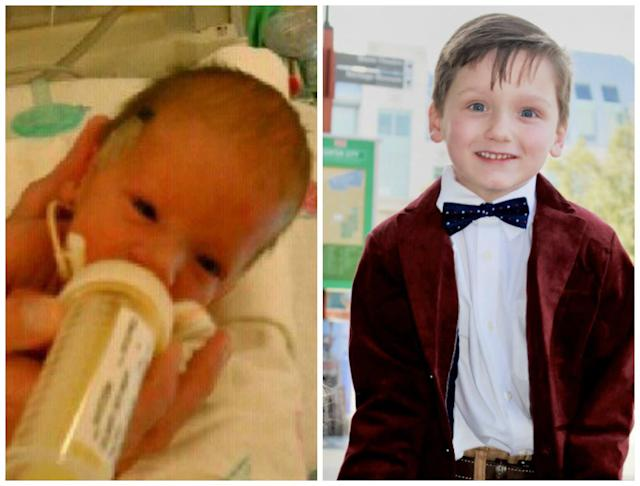 """Eli was born June 25, 2011, at 34 weeks because of preeclampsia complications. He weighed 4 pounds and 8 ounces. He fought hard and only spent nine days in the NICU. He is now 6 years old and in the first grade. He loves science, """"Star Wars"""" and being a big brother.<br><br><i>--Mary Peyton Grissett</i>"""
