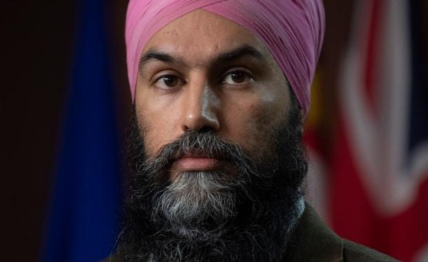 NDP leader Jagmeet Singh is seen during a news conference on Parliament Hill in Ottawa on Feb. 3.