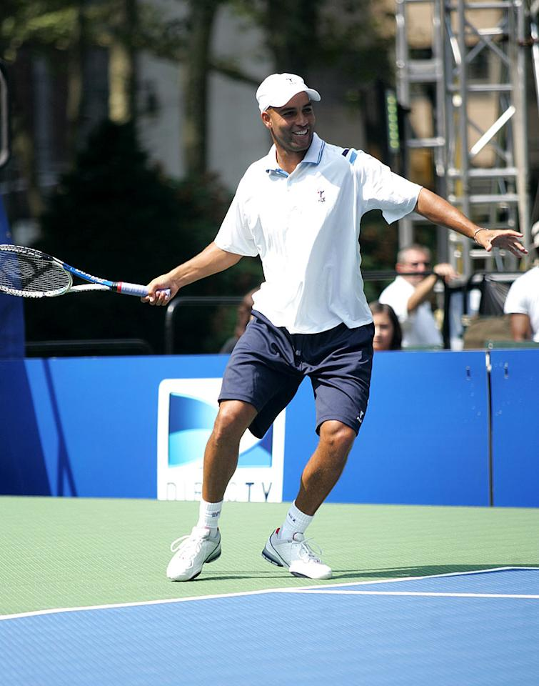 "The event featured other big names in tennis such as James Blake and the Bryan Brothers. <a href=""http://www.splashnewsonline.com/"" target=""new"">Splash News</a> - August 26, 2009"