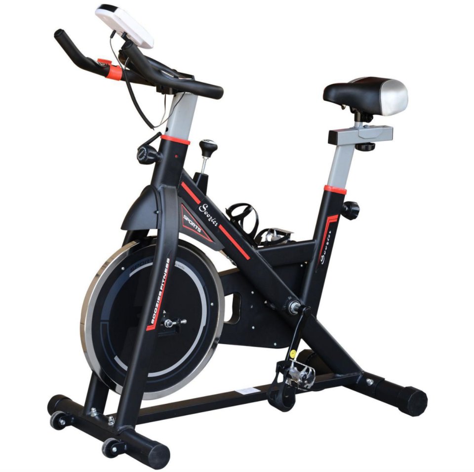 Soozier Adjustable Upright Exercise Bike (Photo via Walmart Canada)