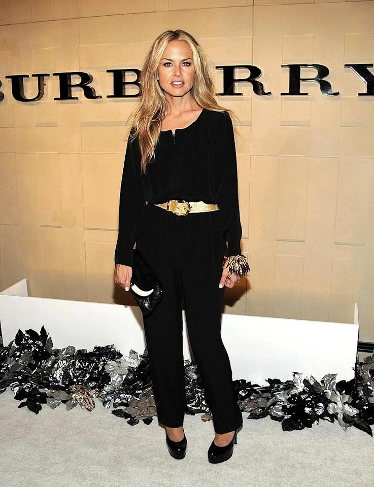 """Stylist-to-the-stars Rachel Zoe keeps it relatively simple in a belted black ensemble. Jordan Strauss/<a href=""""http://www.wireimage.com"""" target=""""new"""">WireImage.com</a> - October 20, 2008"""
