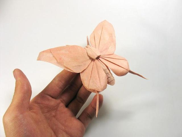 "Origami art - Butterfly. My design for VOG's ""Bird Base Challenge"""