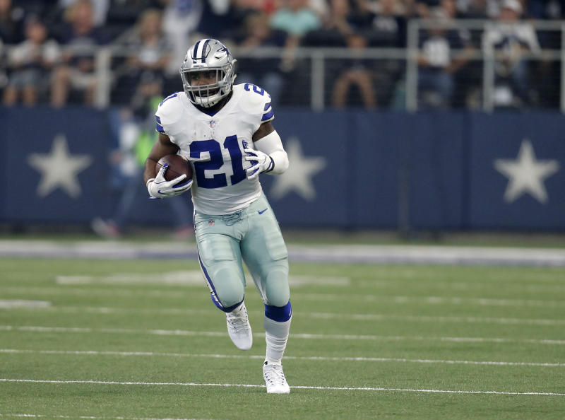 Ezekiel Elliott is still fighting a six-game suspension. (AP)