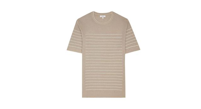 Reiss Regis Short Sleeve Striped Mesh Jumper
