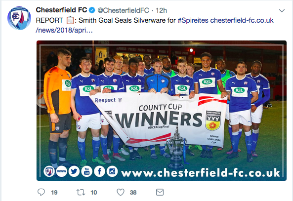 Well, thats one way to cope with it: the Spireites were doomed to the drop on Tuesday night but hoped their fans wouldnt notice