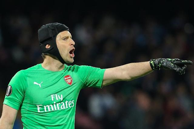 Arsenal goalkeeper Petr Cech is calling time on his playing career (AFP Photo/Carlo Hermann)
