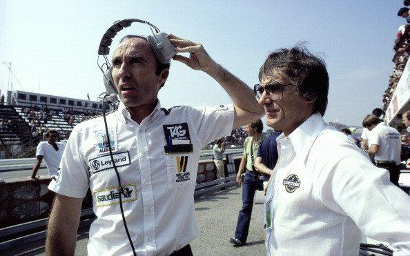 Frank Williams with Bernie Ecclestone in 1981 - GETTY IMAGES