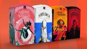 Four Looterature stalls designed after literature classics. Image: Geometry/YouTube
