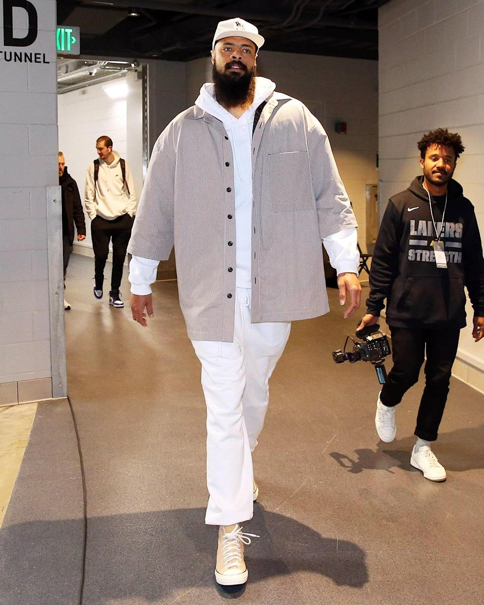 """<h1 class=""""title"""">March 20: Tyson Chandler</h1> <div class=""""caption""""> Tyson Chandler stands a solid 7-foot-1, making this possibly our biggest fit yet. </div> <cite class=""""credit"""">Nathaniel S. Butler</cite>"""