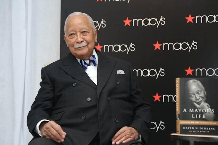 Former NYC Mayor David Dinkins attends an event in his honor hosted by Macy's on February 20, 2014 in New York City.