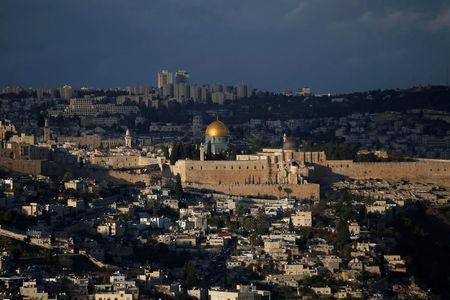 A general view of Jerusalem shows the Dome of the Rock, located in Jerusalem's Old City on the compound known to Muslims as Noble Sanctuary and to Jews as Temple Mount
