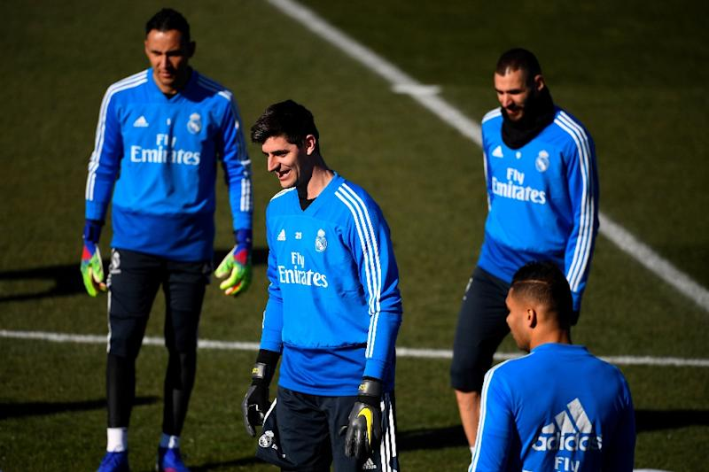 44367e306 Cold comfort  Real Madrid goalkeeper Thibaut Courtois could face anger from  Atletico fans on Saturday