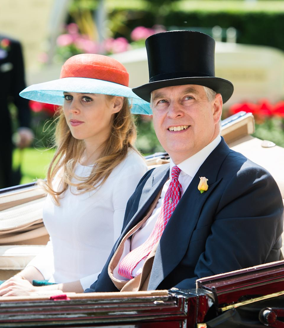 Princess Beatrice of York pictured with her dad Prince Andrew at the races