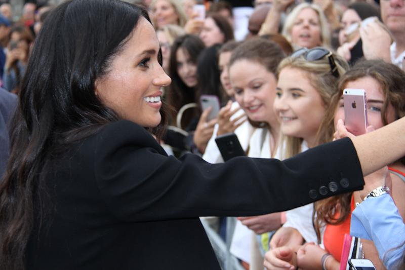 Meghan, Duchess of Sussex makes an appearance in Dublin on July 12. (Photo: Xinhua News Agency via Getty Images)