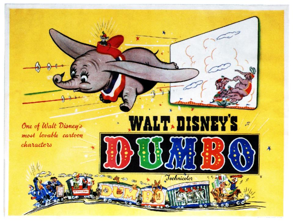 Dumbo, poster,  on poster art, 1941. (Photo by LMPC via Getty Images)