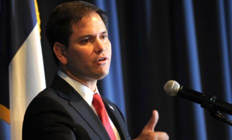 Underneath Republican Marco Rubio's crisp dark suit beats the heart of a man who loves gangster rap.