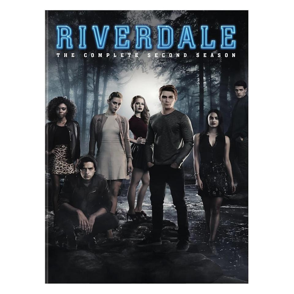 "<p>Relive the Black Hood mystery with this <a href=""http://www.target.com/p/riverdale-season-2-dvd/-/A-53731698?ref=popsugar.com"" rel=""nofollow"" target=""_blank"" class=""ga-track"" data-ga-category=""Related"" data-ga-label=""http://www.target.com/p/riverdale-season-2-dvd/-/A-53731698?ref=popsugar.com"" data-ga-action=""In-Line Links""><strong>Riverdale</strong> Season 2 DVD</a> ($28).</p>"