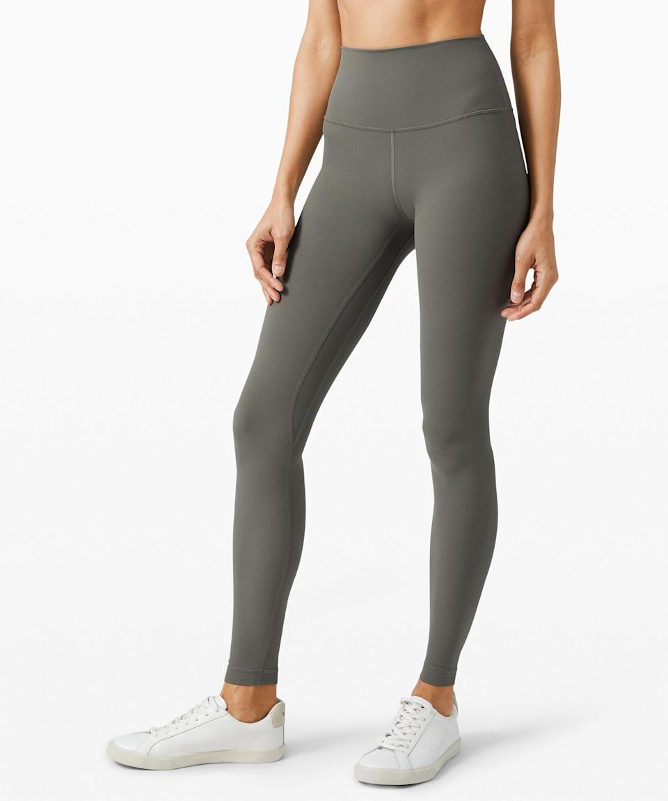 """<p><strong>Lululemon</strong></p><p>lululemon.com</p><p><strong>$98.00</strong></p><p><a href=""""https://go.redirectingat.com?id=74968X1596630&url=https%3A%2F%2Fshop.lululemon.com%2Fp%2Fwomen-pants%2FAlign-Pant-Full-Length-28%2F_%2Fprod8780551&sref=https%3A%2F%2Fwww.womenshealthmag.com%2Flife%2Fg27102977%2Fgifts-for-new-moms%2F"""" rel=""""nofollow noopener"""" target=""""_blank"""" data-ylk=""""slk:Shop Now"""" class=""""link rapid-noclick-resp"""">Shop Now</a></p><p>If she's a new mom, chances are she's spending most of her time in leggings (yes to the comfort and compression!), especially these days. What better way to celebrate Mother Day's than giving her Lulu's fan-favorite Align pant? She won't want to take 'em off, trust. </p>"""