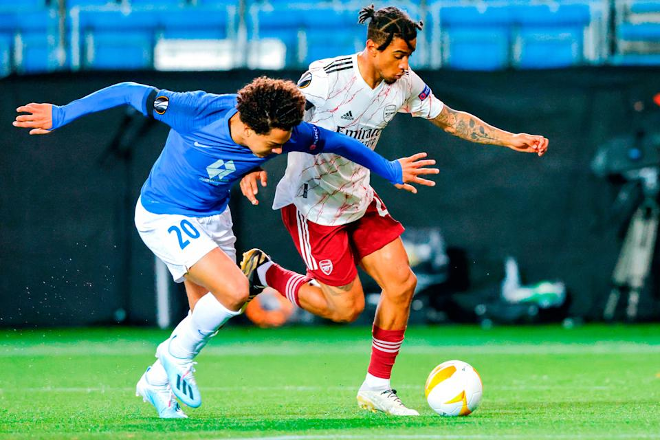 <p>Reiss Nelson impresses for Arsenal</p>NTB/AFP via Getty Images