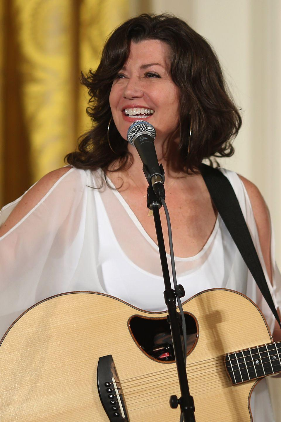 """<p>In 1977, Amy was still a popular girls' name, placing at third. Amy – or Amee — is French for beloved. That year, singer/songwriter Amy Grant, later known for the 1991 hit """"Baby, Baby,"""" released her first album. (Michael, Jason, Christopher, Jennifer, and Melissa were also chart-toppers.)</p>"""