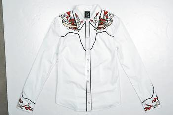 McQ embroidery white shirt $5,499