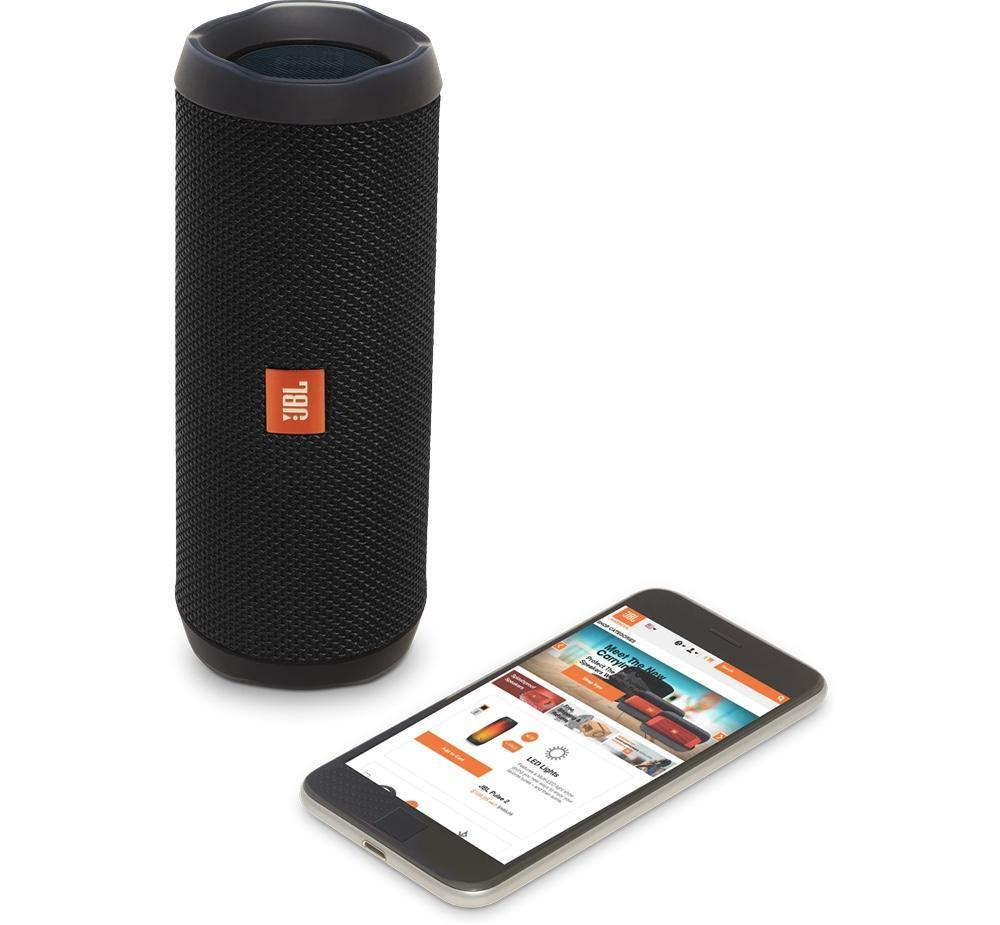 The JBL Flip 4 lets you rock out by the pool without having to worry if your speaker takes a dip.