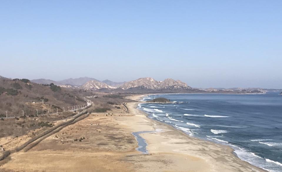 North Korea in the distance. (Yahoo Sports)