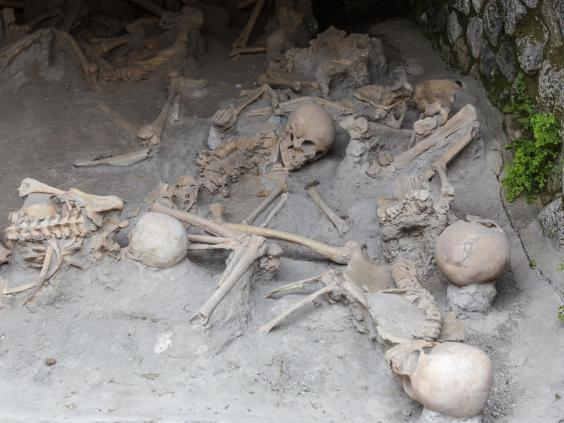 Archaeologists have found hundreds of human remains in Herculaneum buried in volcanic ash (iStock)