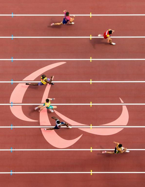 Love was in the air on the Paralympic track after a guide proposed to his running partner (AFP/Joel MARKLUND)