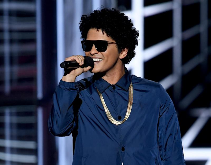 Bruno Mars features on Ed Sheeran's track Blow (Getty)