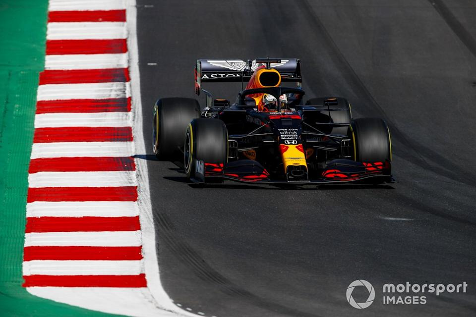 """Max Verstappen, Red Bull Racing RB16<span class=""""copyright"""">Zak Mauger / Motorsport Images</span>"""