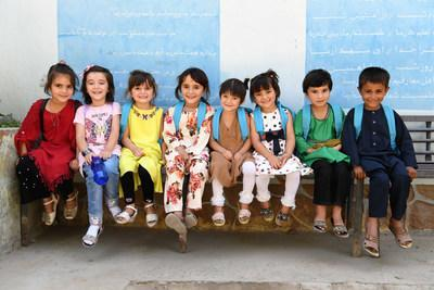 Students at the playground of Turgani High School in Faizabad, the largest city of Badakhshan, a northern province of Afghanistan. (CNW Group/Canadian Unicef Committee)