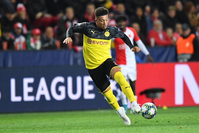 Jadon Sancho and Borussia Dortmund have had Borussia Monchengladbach's number lately. (Getty)