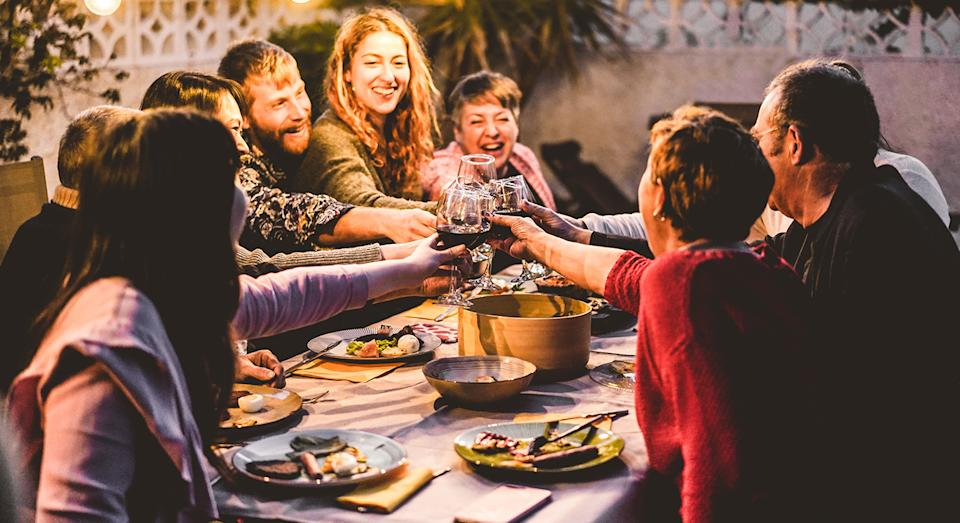 Enjoy dining al fresco with Aldi's portable patio heater - all year round.  (Getty Images)