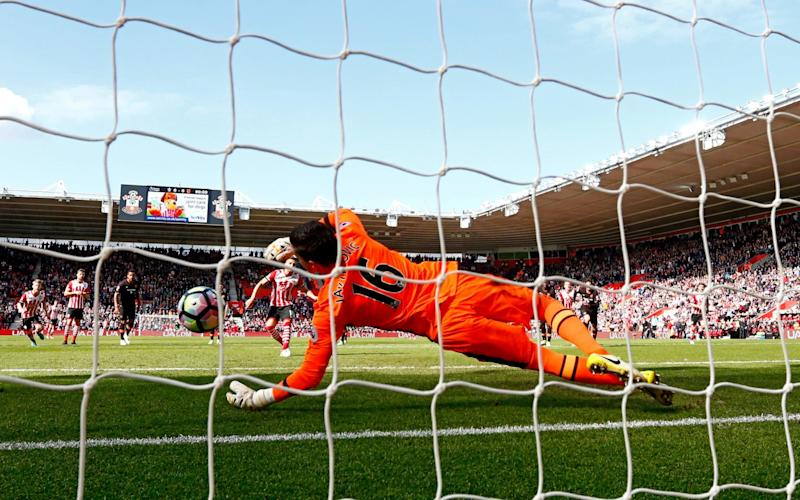 Eldin Jakupovic saved a stoppage time penalty for Hull at Southampton - Getty Images Europe