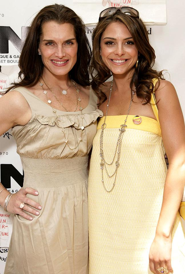 "Brooke Shields and Maria Menounos. Todd Williamson/<a href=""http://www.wireimage.com"" target=""new"">WireImage.com</a> - May 31, 2007"
