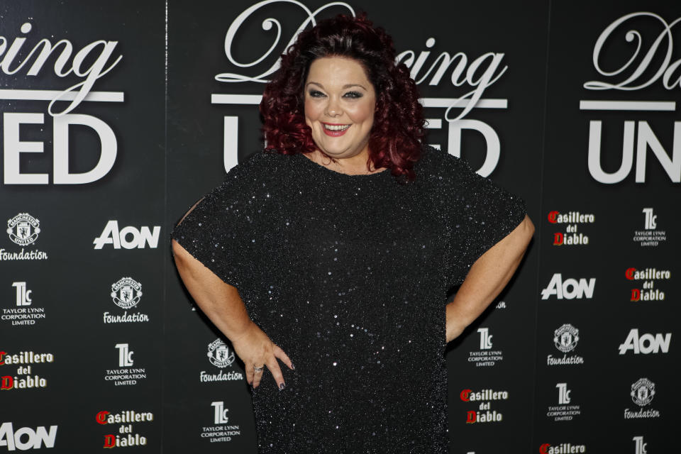 MANCHESTER, UNITED KINGDOM - MARCH 07: Lisa Riley attends the Manchester United Foundation's Dancing With United charity fundraiser at Lancashire County Cricket Club on March 7, 2013 in Manchester, England. (Photo by Andrew Benge/WireImage)