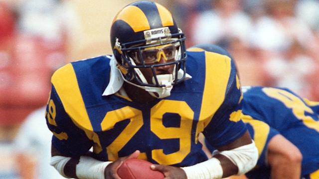 "Rams fans want the throwback jerseys of players such as Eric Dickerson. <span class=""copyright"">(Associated Press)</span>"