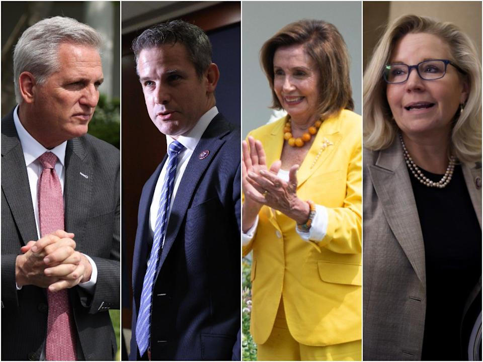 """Republican House Minority Leader Kevin McCarthy called GOP Reps Liz Cheney and Adam Kinzinger """"Pelosi Republicans"""" after they agreed to serve on the select committee looking into the 6 January insurrection.  (Getty Images)"""