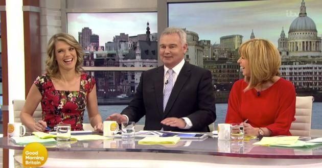 "The <a href=""http://www.huffingtonpost.co.uk/entry/eamonn-holmes-good-morning-britain-kate-garraway-piers-morgan_uk_58eb3ac9e4b05413bfe3e85e?utm_hp_ref=good-morning-britain"">ex-'GMTV' star was back on the breakfast TV sofa for one week only,</a> while Piers Morgan took a well-needed break.&nbsp;"