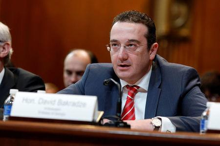 Georgian Ambassador David Bakradze testifies before the Senate Appropriations State, Foreign Operations and Related Programs Subcommittee