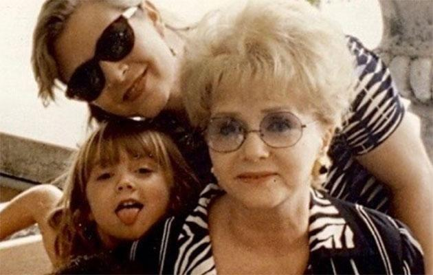 Billie as a child with her mother Carrie and her grandmother Debbie. Source: Instagram