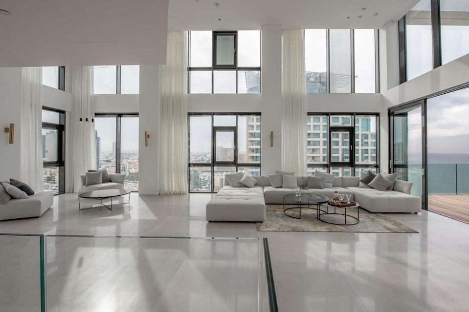 A £22 million penthouse at HaYarkon 29 in Tel Aviv is being marketed by Beauchamp Estates. Photo: Handout