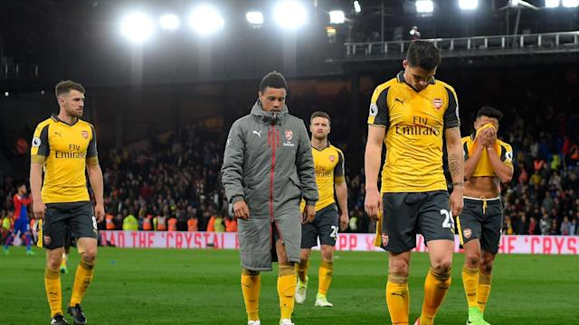 After Arsenal slumped to a disappointing 3-0 defeat to Crystal Palace, Theo Walcott struggled to find a reason for their terrible display.