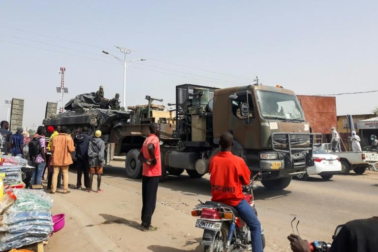 Chadian troops and their equipment arrived in the capital N'Djamena on January 3 at the end of thier mission fighting Boko Haram in neighbouring Nigeria (AFP Photo/-)