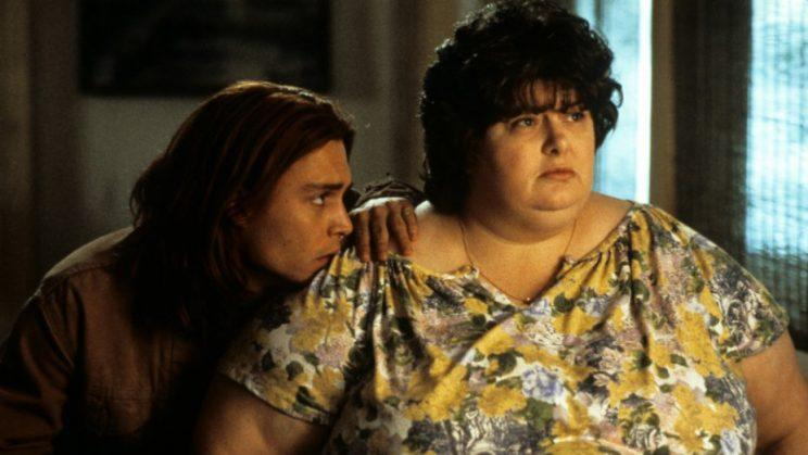 Johnny Depp and Darlene Cates in 'What's Eating Gilbert Grape'